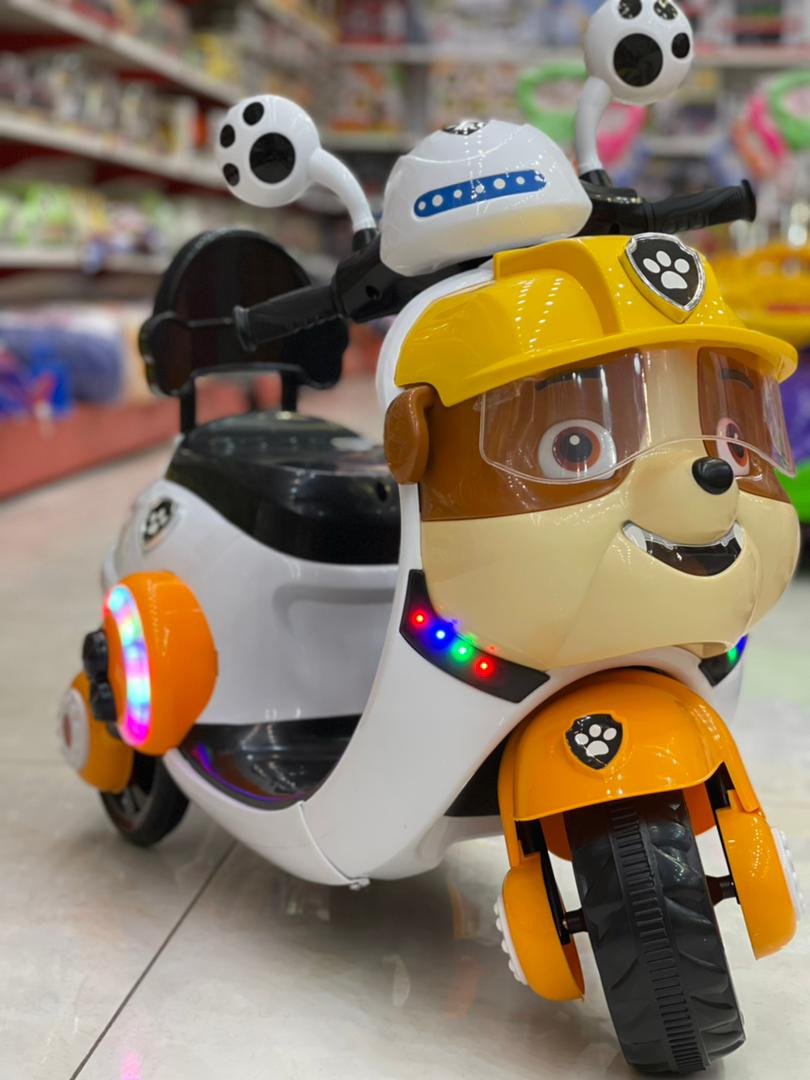 موتور شارژی سه چرخ بچه گانه مدل رابل طرح سگ نگهبان
